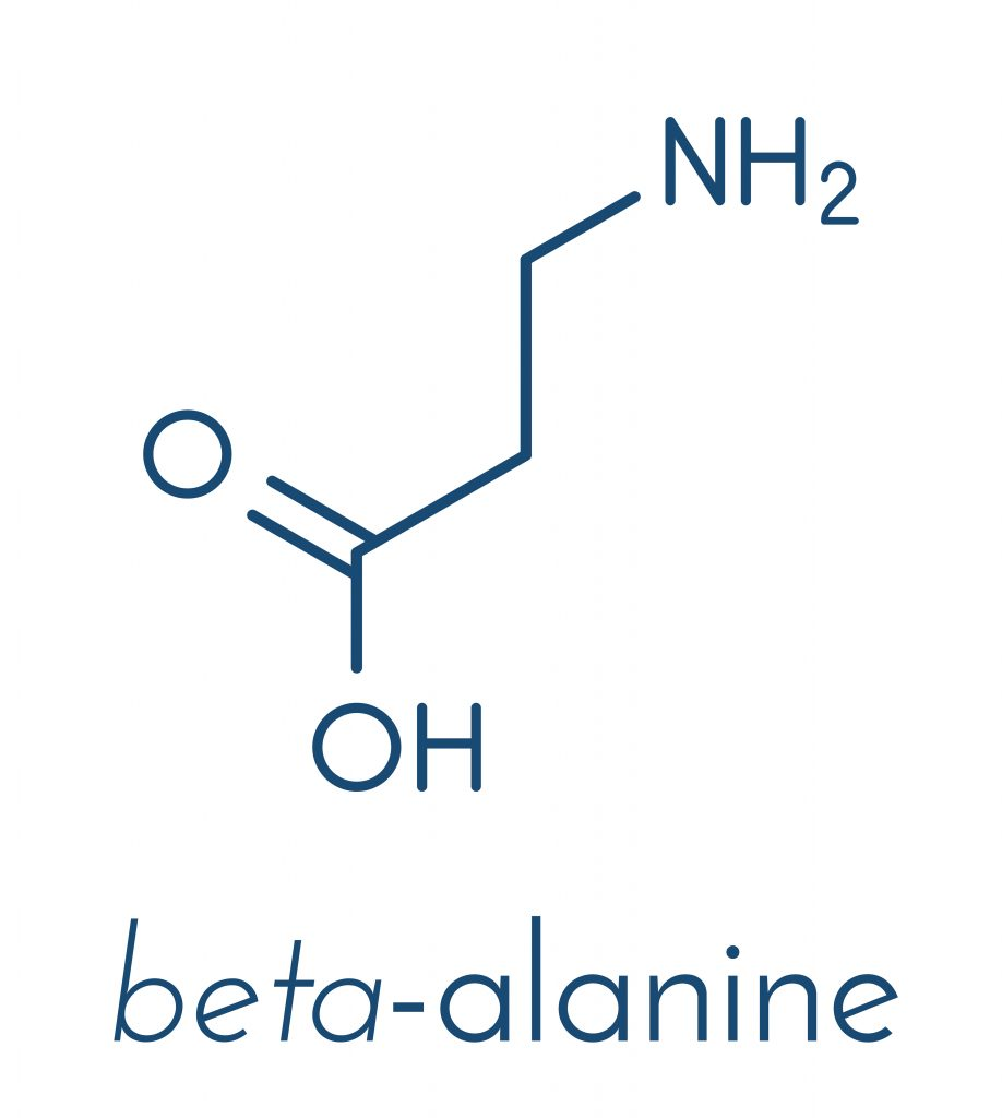 Chemical structure of beta-alanine